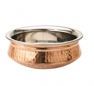 Single Copper Base Handi Dish | Buy Online at The Asian Cookshop.